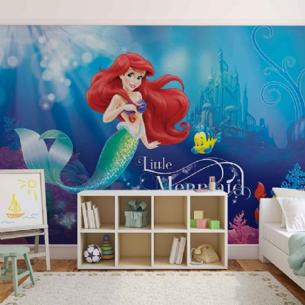 Ariel Little Mermaid wall murals
